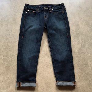 True Religion Lizzy Cuff Stretch Jeans